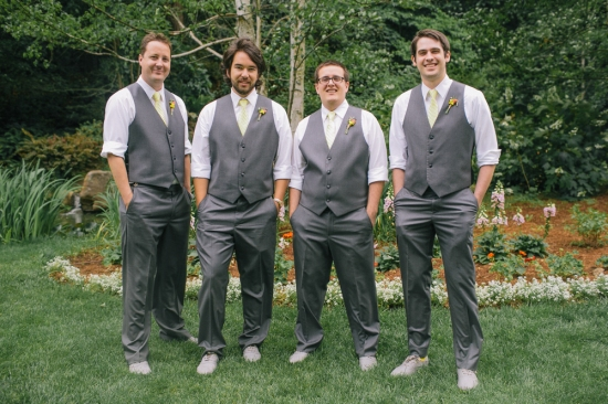 Groomsmen Nestldown Wedding Los Gatos California