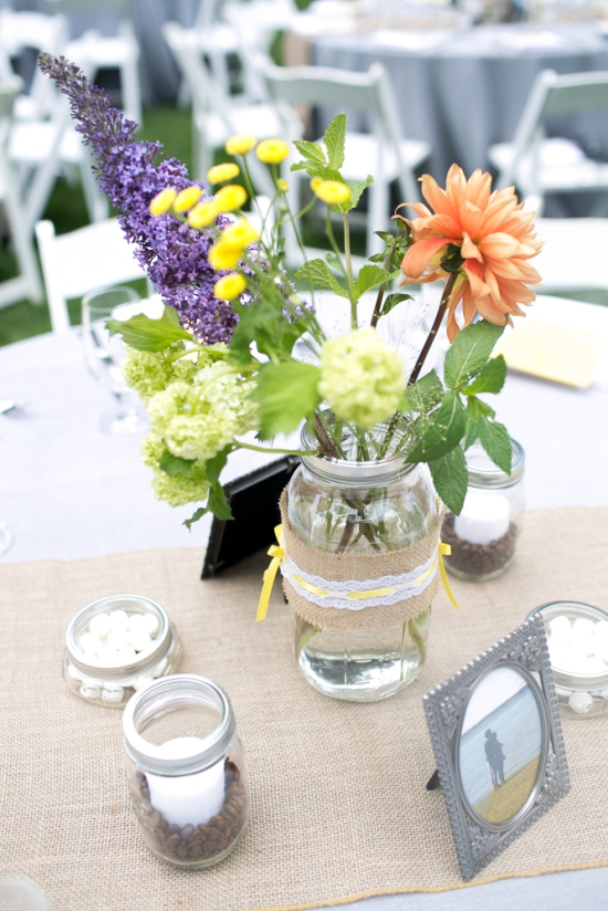 Centerpiece Nestldown Wedding Los Gatos California