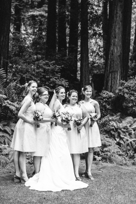 Bride & Bridesmaids Nestldown Wedding Los Gatos California