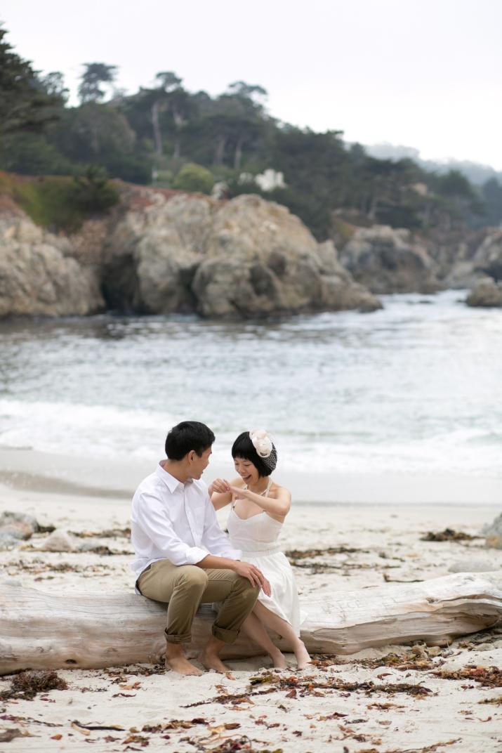 Martin + Z Beach Proposal Gibson Beach Point Lobos, Carmel