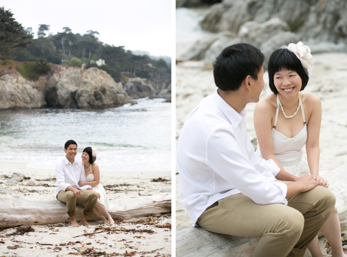 Carmel, California Gibson Beach Proposal Photos Monika Greenaway Photography