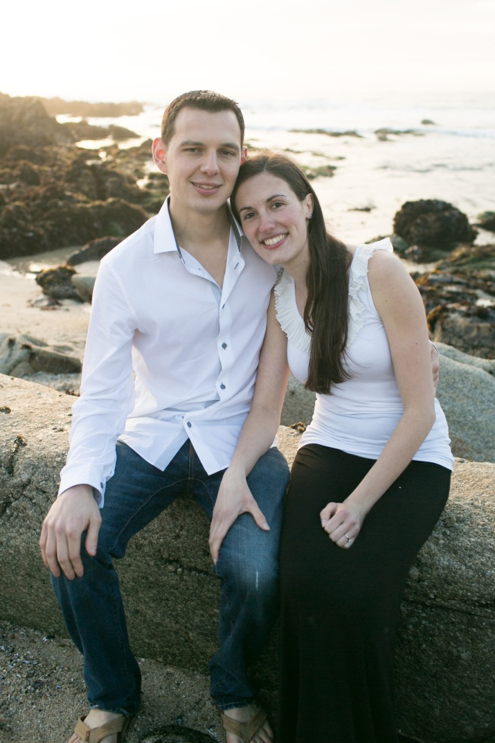 Joey + Vanessa Asilomar Beach Pacific Grove California Engagement Photography