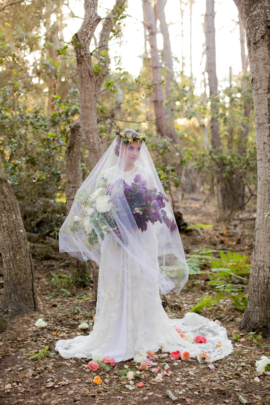 Styled Garden Wedding Dress